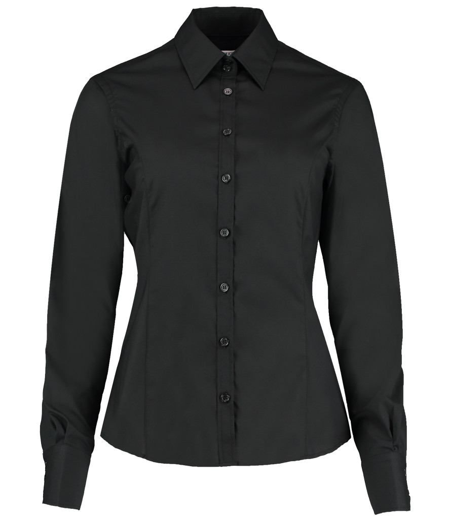 K743F-BLK-FRONT Kustom kit shirt