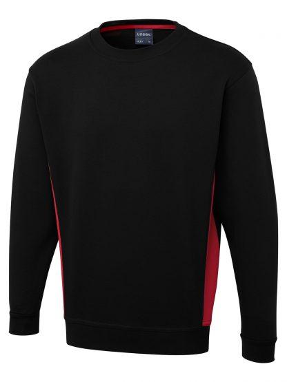 Uneek Two Tone Crew New Sweatshirt