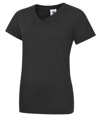 Uneek Ladies Classic V Neck T Shirt