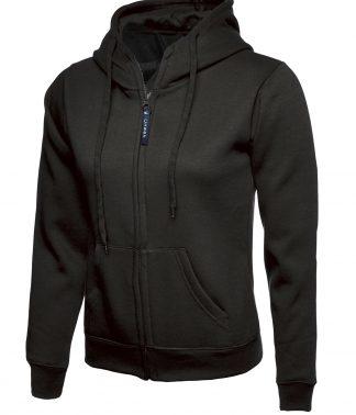 Uneek Ladies Classic Full Zip Hooded Sweatshirt