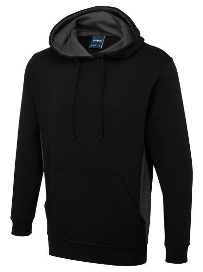 Uneek Two Tone Hooded Sweatshirt