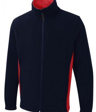 Uneek Two Tone Full Zip Fleece Jacket
