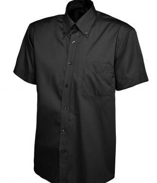 Uneek Mens Pinpoint Oxford Half Sleeve Shirt