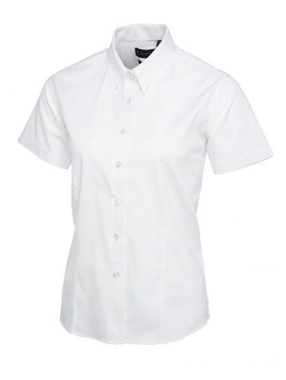 Uneek Ladies Pinpoint Oxford Half Sleeve Shirt