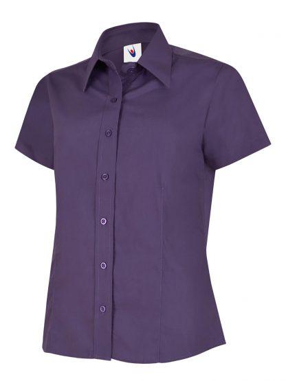 Uneek Ladies Poplin Half Sleeve Shirt