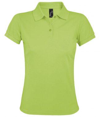 SOLs Lds Prime Pique Polo Shirt Apple Green 3XL (10573 APL 3XL)