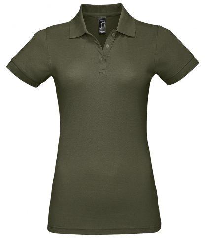 SOLs Lds Prime Pique Polo Shirt Army 3XL (10573 ARM 3XL)