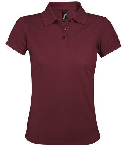 SOLs Lds Prime Pique Polo Shirt Burgundy 3XL (10573 BUR 3XL)