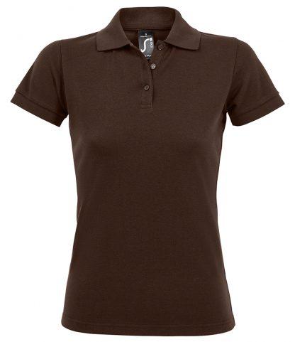 SOLs Lds Prime Pique Polo Shirt Chocolate 3XL (10573 CHO 3XL)
