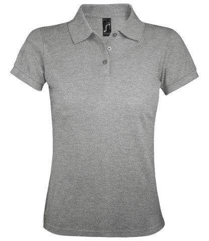 SOLs Lds Prime Pique Polo Shirt Grey marl 3XL (10573 GYM 3XL)