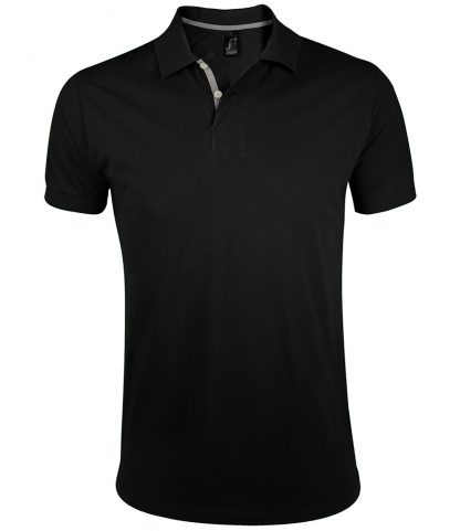 SOLS Portland Polo Shirt Black 3XL (10574 BLK 3XL)