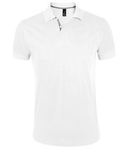 SOLS Portland Polo Shirt White 3XL (10574 WHI 3XL)