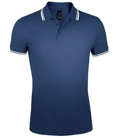 SOLS Pasadena Polo Shirt F Navy/white 3XL (10577 FN/WH 3XL)