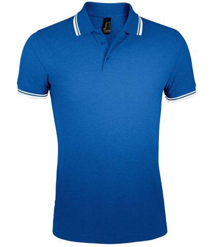 SOLS Pasadena Polo Shirt Royal/white 3XL (10577 RY/WH 3XL)