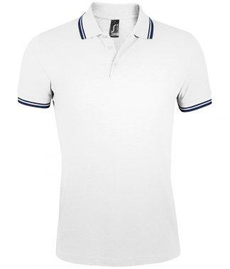 SOLS Pasadena Polo Shirt White/navy 3XL (10577 WH/NV 3XL)