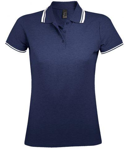 SOLS Lds Pasadena Polo Shirt F Navy/white XXL (10578 FN/WH XXL)