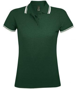 SOLS Lds Pasadena Polo Shirt Forest/white XXL (10578 FO/WH XXL)