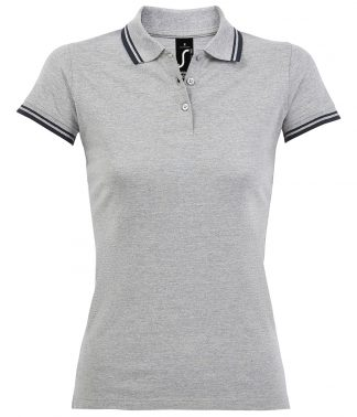 SOLS Lds Pasadena Polo Shirt Heather/navy XXL (10578 HE/NV XXL)