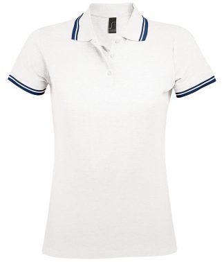 SOLS Lds Pasadena Polo Shirt White/navy XXL (10578 WH/NV XXL)