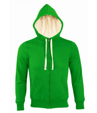SOLS Sherpa Hooded Jacket Bud green XXL (10584 BDG XXL)