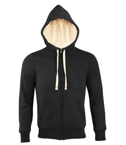 SOLS Sherpa Hooded Jacket Black XXL (10584 BLK XXL)