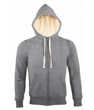SOLS Sherpa Hooded Jacket Grey marl XXL (10584 GYM XXL)
