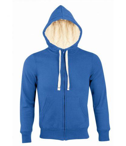 SOLS Sherpa Hooded Jacket Royal XXL (10584 ROY XXL)