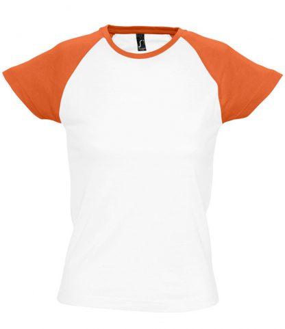 SOLS Lds Milky Contrast T White/orange XXL (11195 WH/OR XXL)
