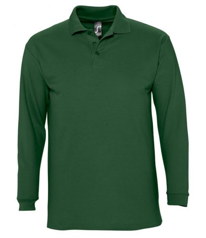 SOLS Winter II L/S Polo Green XXL (11353 GRN XXL)