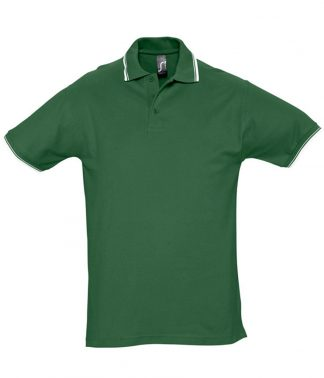 SOLS Practice Tipped Polo Green/white XXL (11365 GN/WH XXL)