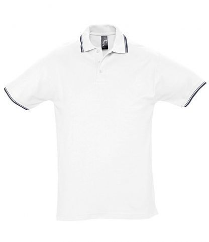 SOLS Practice Tipped Polo White/navy XXL (11365 WH/NV XXL)
