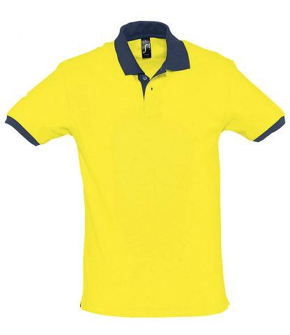 SOLS Prince Contrast Polo Lemon/fr. navy XXL (11369 L/FNA XXL)