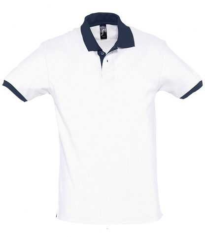 SOLS Prince Contrast Polo White/fr.navy XXL (11369 WH/FN XXL)