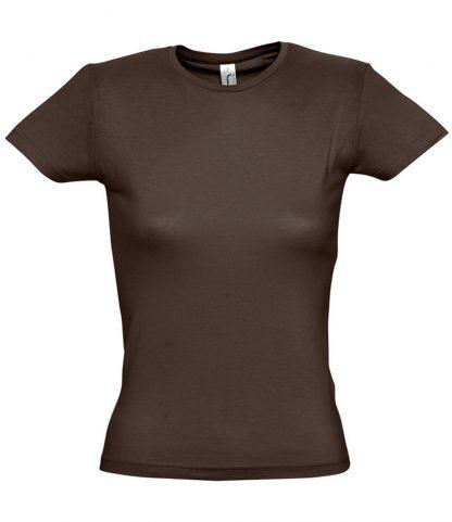 SOLS Ladies Miss T-Shirt Chocolate XXL (11386 CHO XXL)
