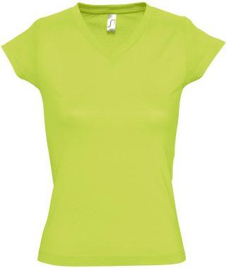 SOLS Ladies Moon V Nk T-Shirt Apple Green 3XL (11388 APL 3XL)
