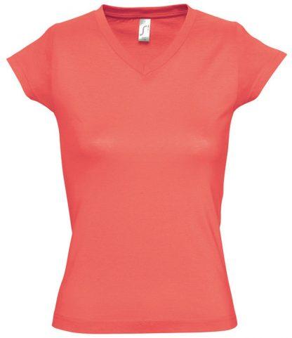 SOLS Ladies Moon V Nk T-Shirt Coral 3XL (11388 CRL 3XL)