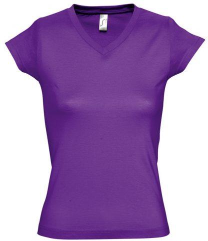 SOLS Ladies Moon V Nk T-Shirt Dark purple 3XL (11388 DKP 3XL)