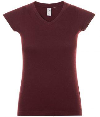 SOLS Ladies Moon V Nk T-Shirt Oxblood 3XL (11388 OBD 3XL)