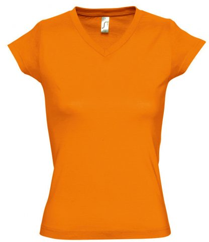 SOLS Ladies Moon V Nk T-Shirt Orange 3XL (11388 ORA 3XL)