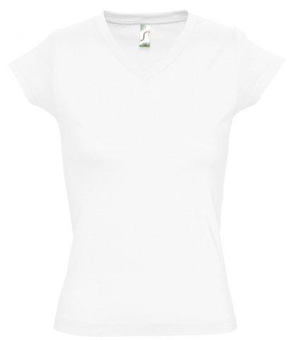 SOLS Ladies Moon V Nk T-Shirt White 3XL (11388 WHI 3XL)