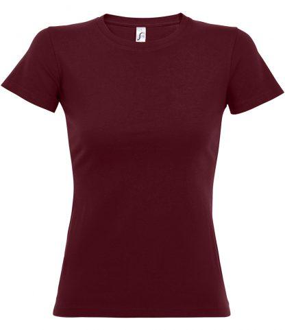 SOLS Ladies Imperial T-Shirt Burgundy XXL (11502 BUR XXL)