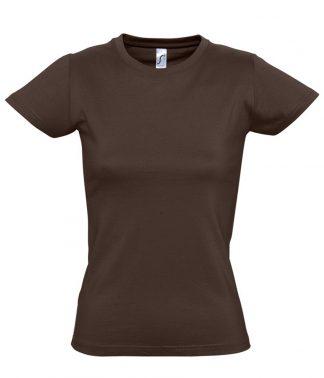 SOLS Ladies Imperial T-Shirt Chocolate XXL (11502 CHO XXL)