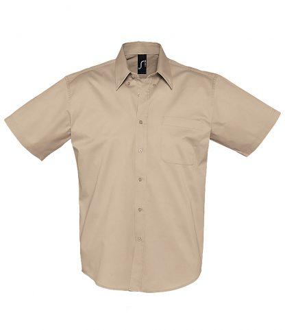 SOLS Brooklyn S/S Shirt Beige 4XL (16080 BEI 4XL)
