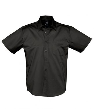SOLS Brooklyn S/S Shirt Black 4XL (16080 BLK 4XL)