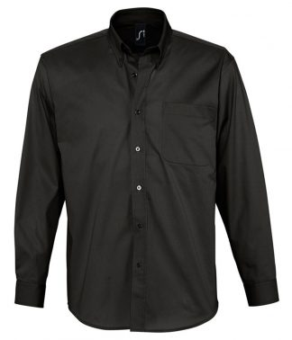 SOLS Bel-Air L/S Shirt Black 4XL (16090 BLK 4XL)