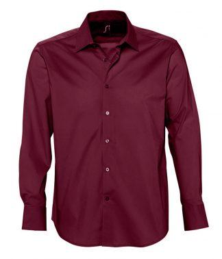 SOLS Brighton L/S Stretch Shirt Burgundy 4XL (17000 BUR 4XL)