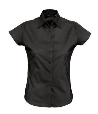 SOLS Ladies Excess S/S Shirt Black XXL (17020 BLK XXL)