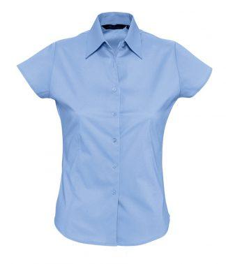SOLS Ladies Excess S/S Shirt Bright Sky XXL (17020 BSK XXL)