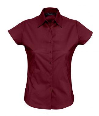 SOLS Ladies Excess S/S Shirt Burgundy XXL (17020 BUR XXL)