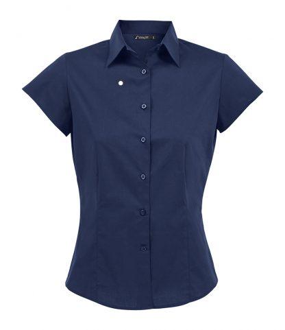 SOLS Ladies Excess S/S Shirt Dark Blue XXL (17020 DBL XXL)